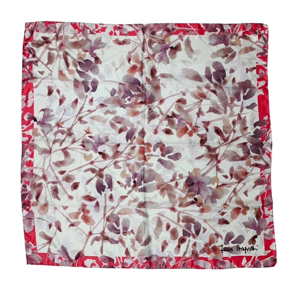 LAURA BIAGIOTTI - Foulard in seta 90x90 stampa acquerello - Rosa