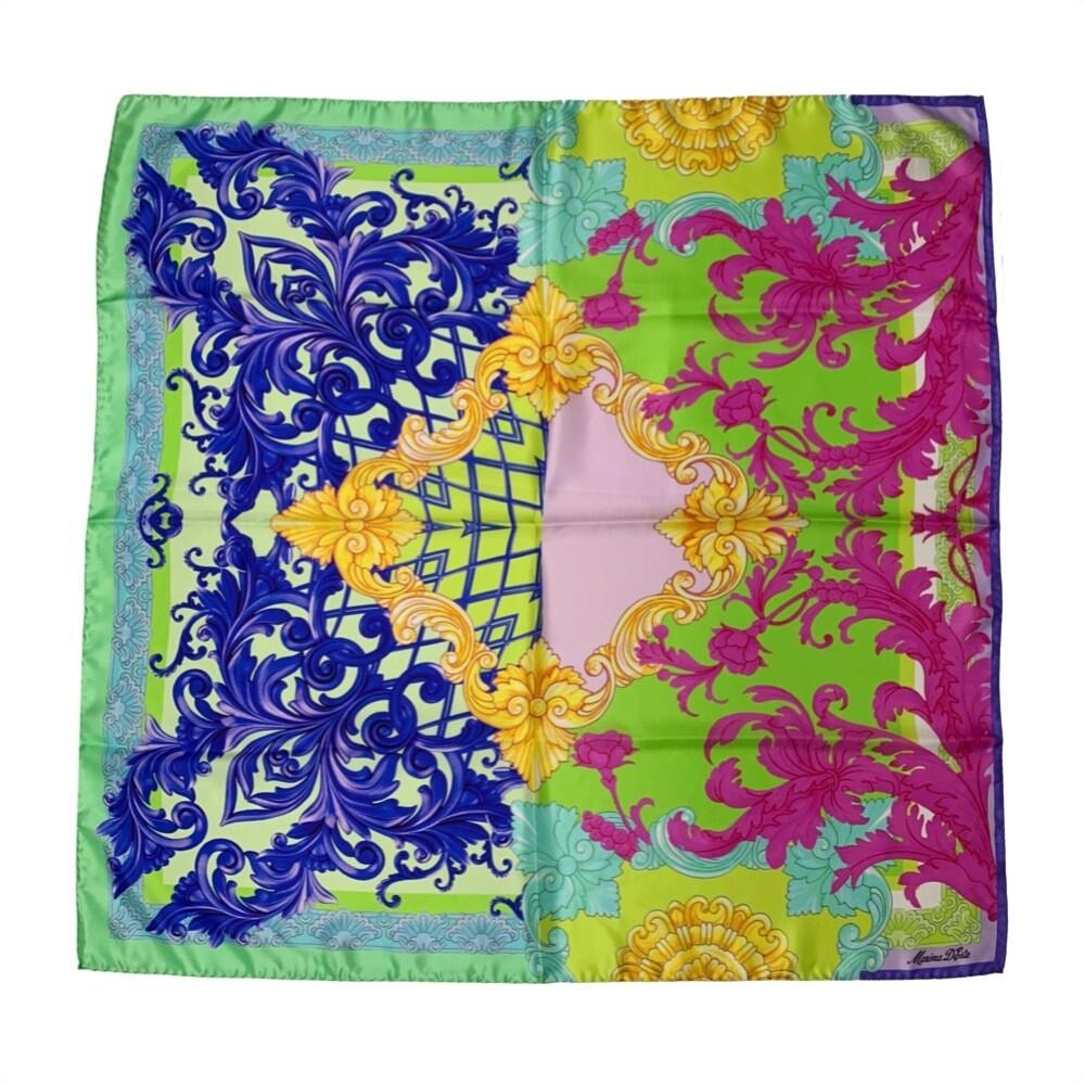 MARINA D'ESTE - Foulard in seta 90x90 stampa classico - Multi colore
