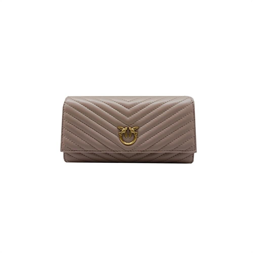 PINKO - Rayen Wallet Flap Quilt - Taupe