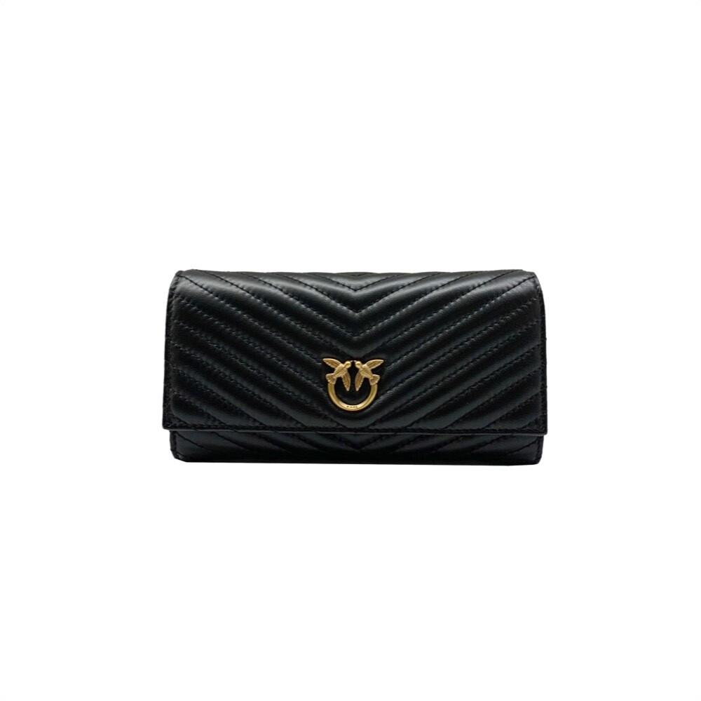 PINKO - Rayen Wallet Flap Quilt - Black