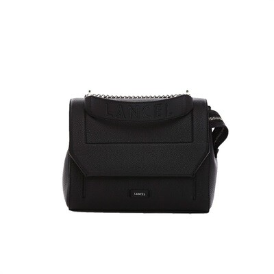 LANCEL - Ninon Flap Bag M - Black