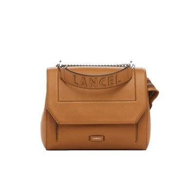 LANCEL - Ninon Flap Bag M - Camel