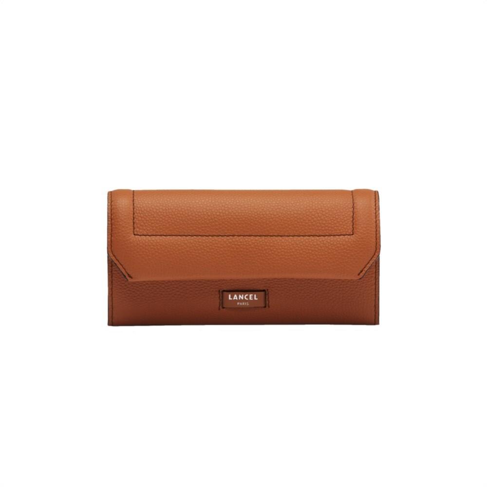 LANCEL - Slim Flap Wallet - Camel