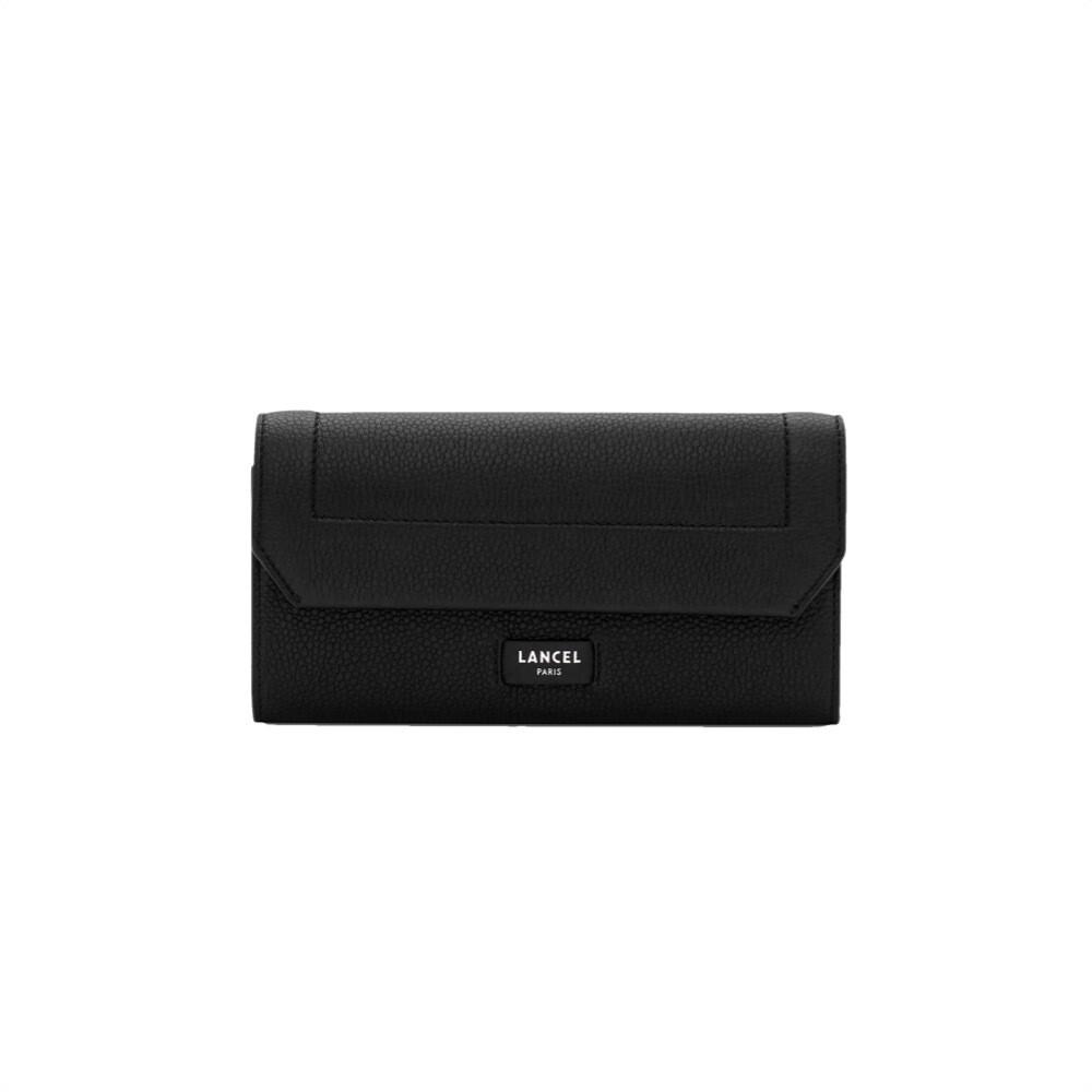 LANCEL - Slim Flap Wallet - Black