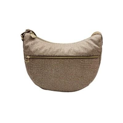 BORBONESE - Luna Bag Middle Nylon Riciclato OP con zip - Beige/Brown