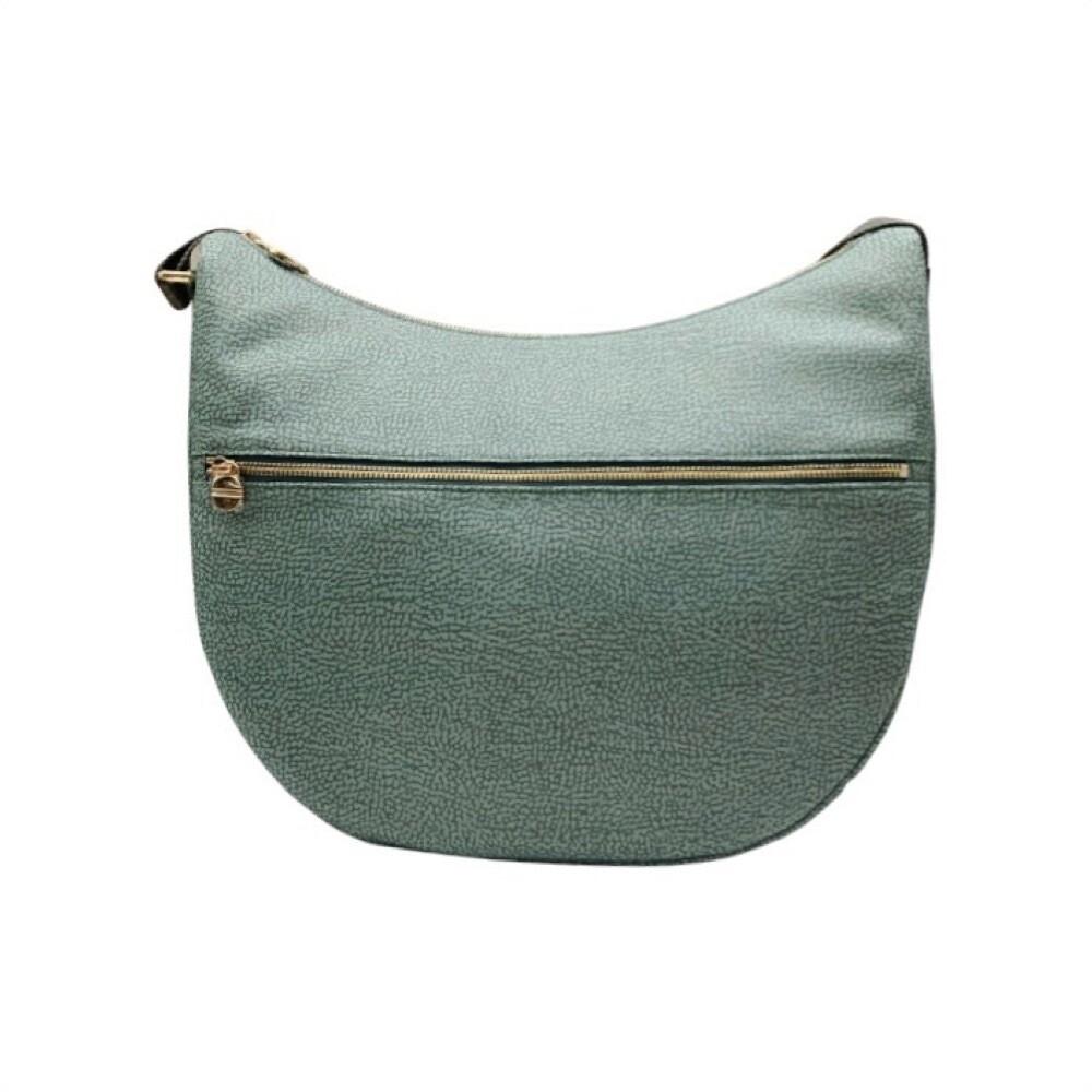 BORBONESE - Luna Bag Medium Nylon Riciclato OP con zip - Pastel Green