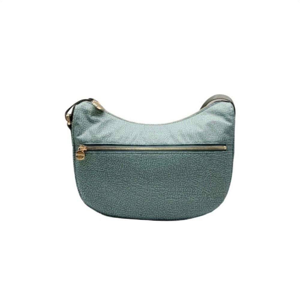 BORBONESE - Luna Bag Small Nylon Riciclato OP con zip - Pastel Green