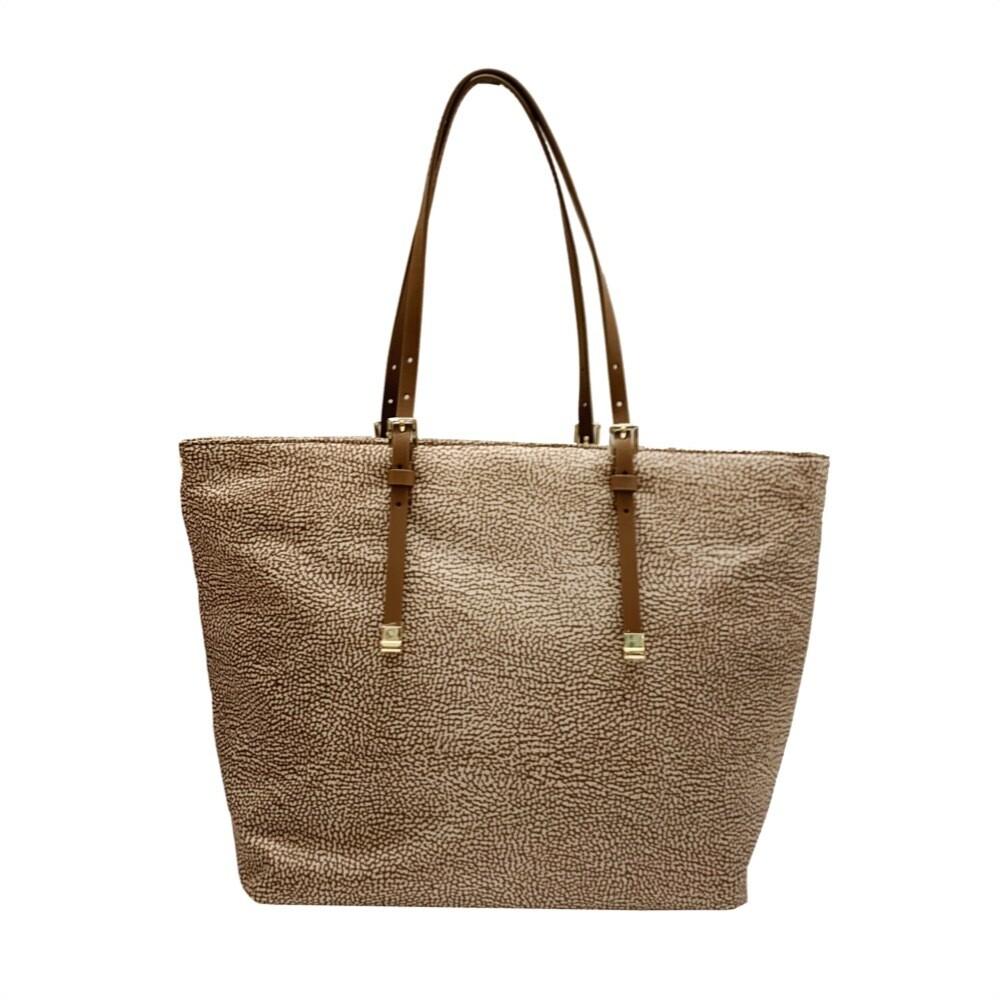 BORBONESE - Shopping Bag Large - Beige/Brown
