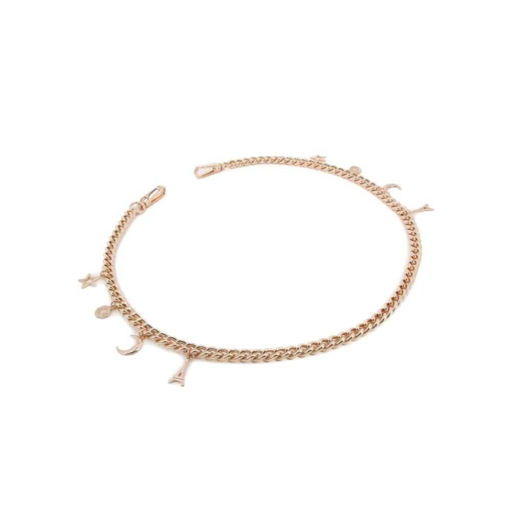 PINKO - Love Chain Pins Tracolla - Light Gold