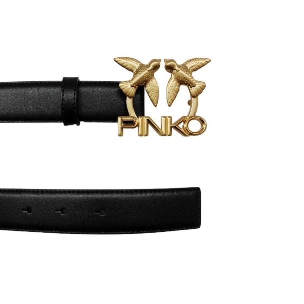 PINKO - Aster Simply cintura vita alta - Black/Oro