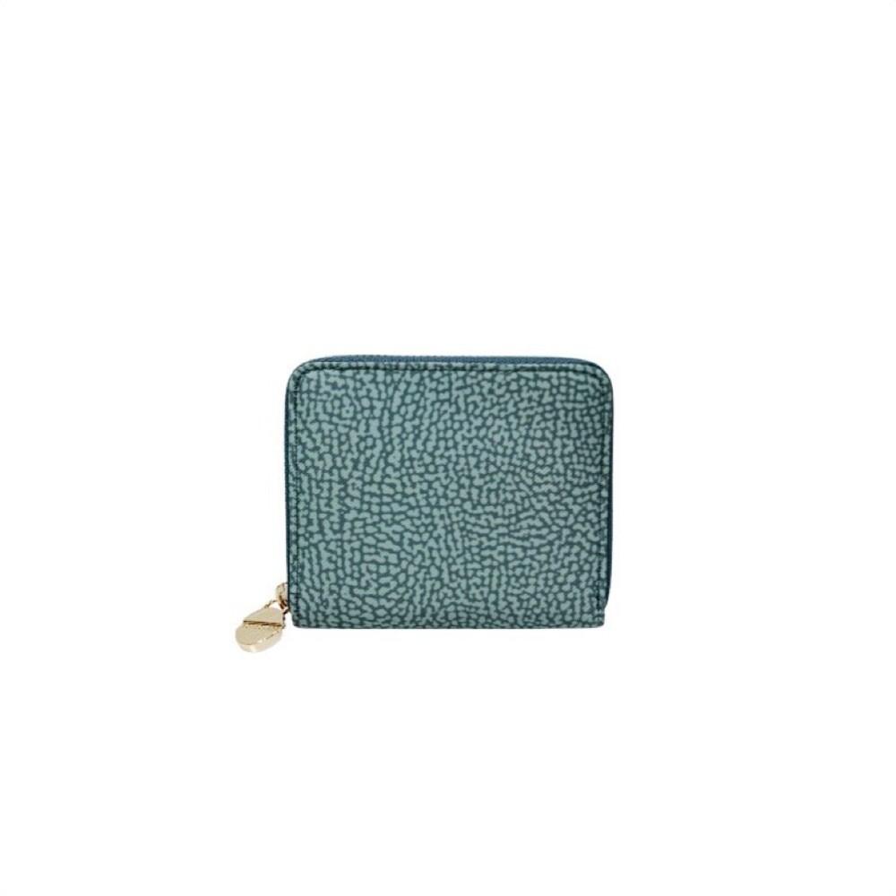 BORBONESE - Portafoglio Small Zip Around - Pastel Green