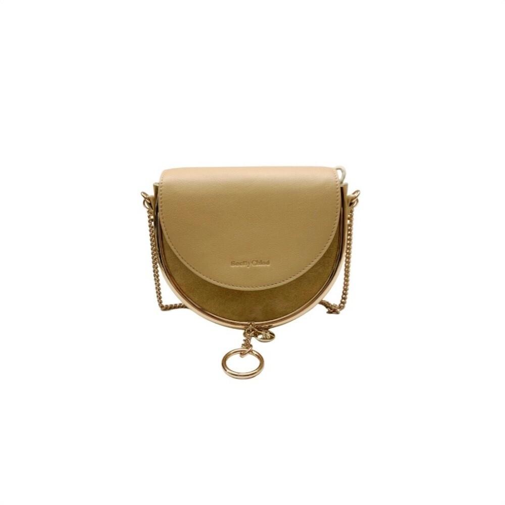 SEE BY CHLOÉ - Mara Mini Crossbody Bag Suede - Seed Brown