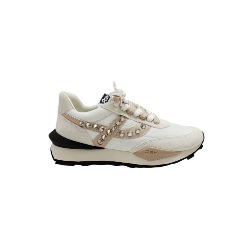 ASH - Spider Studs Sneakers - White/Eggnug/Off White