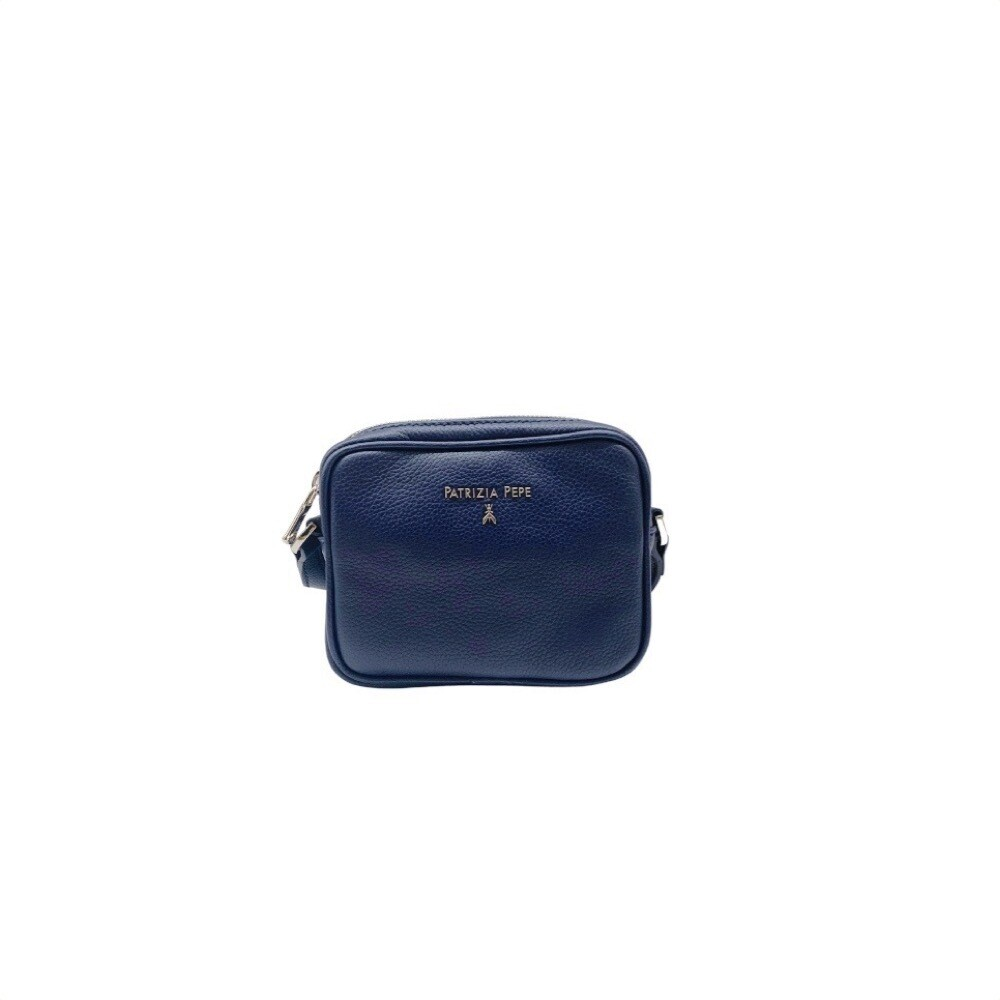 PATRIZIA PEPE - Mini Camera Bag in pelle - Dress Blue