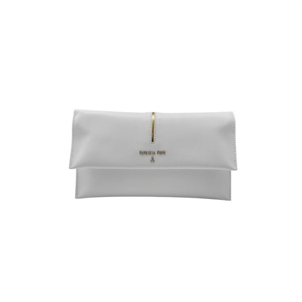 PATRIZIA PEPE - Pochette in pelle con tracolla - Bianco