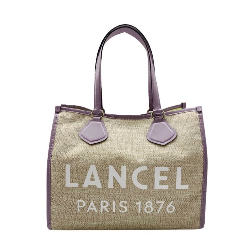 LANCEL - Cabas Summer Tote L - Natural/Mauve