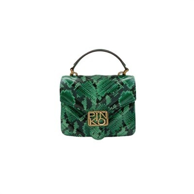 PINKO - Mini Love Bag Top Handle Exotics - Green/Black