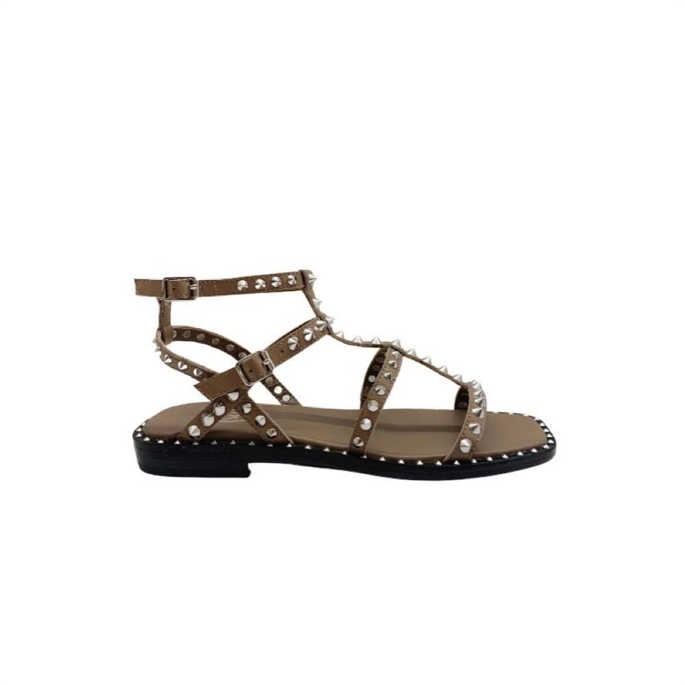 ASH - Maeva sandalo con borchie - Fango