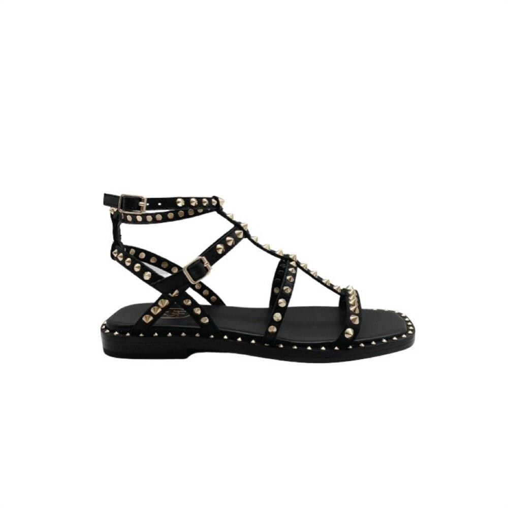 ASH - Maeva sandalo con borchie - Black