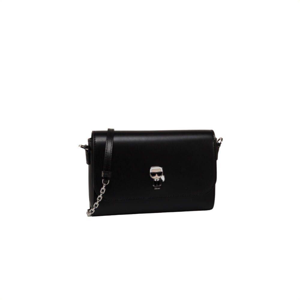 KARL LAGERFELD - K/Ikonik metal pin crossbody - Black