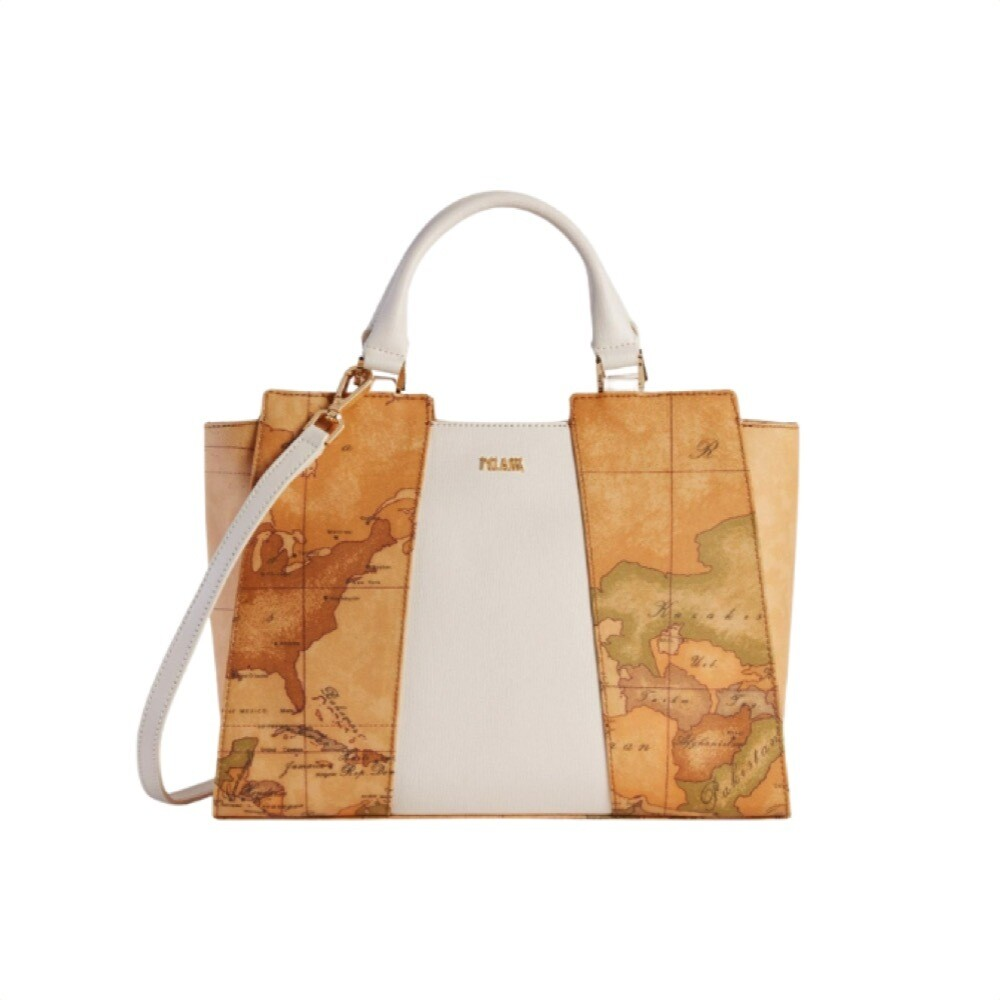 ALVIERO MARTINI - Lotus Flower Borsa a mano media - Pearl