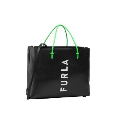 FURLA - Essential M Tote - Nero/Talco