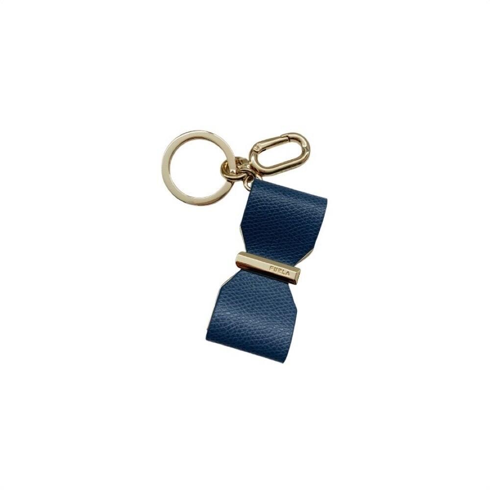 FURLA - Portachiavi Venus Ribbon - Blu Denim