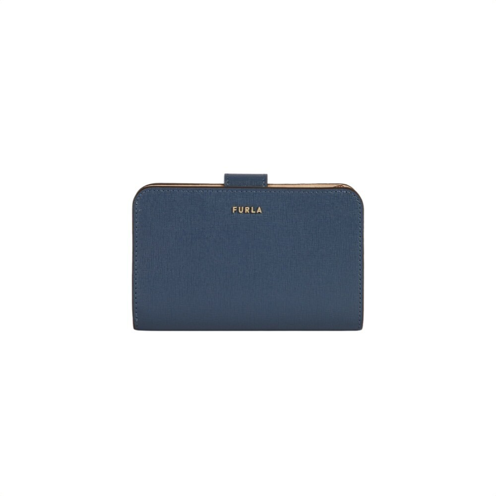 FURLA - Babylon M compact wallet - Blu Denim/Ballerina