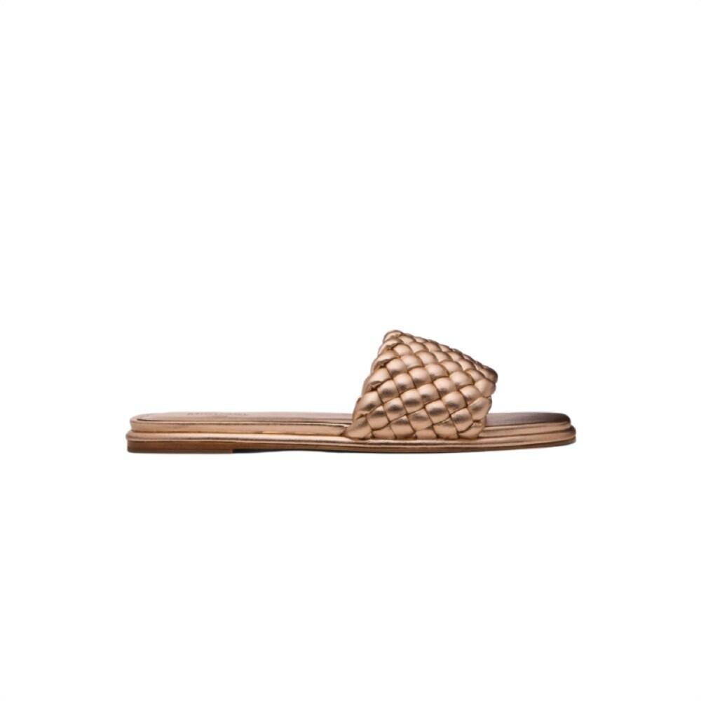 MICHAEL KORS - Amelia Flat Sandal - Antique Gold
