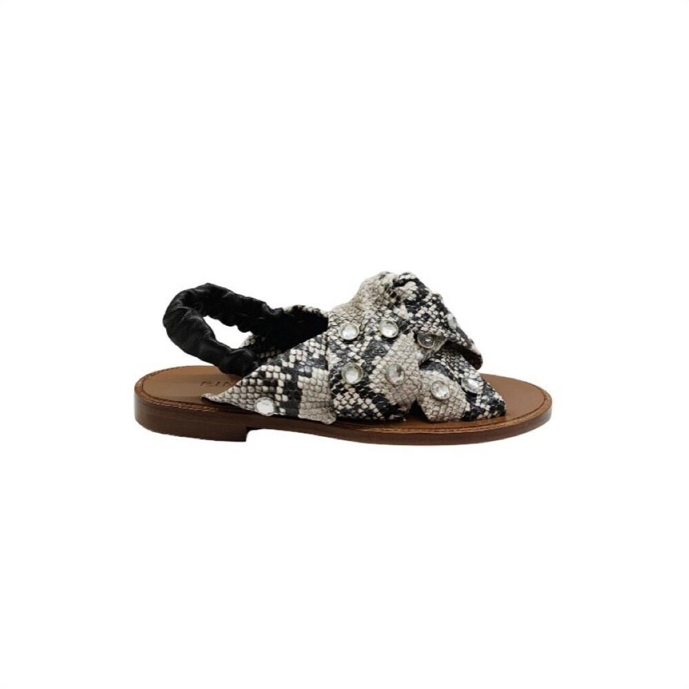 PINKO - Glicine Sandalo stampa pitone - Off White