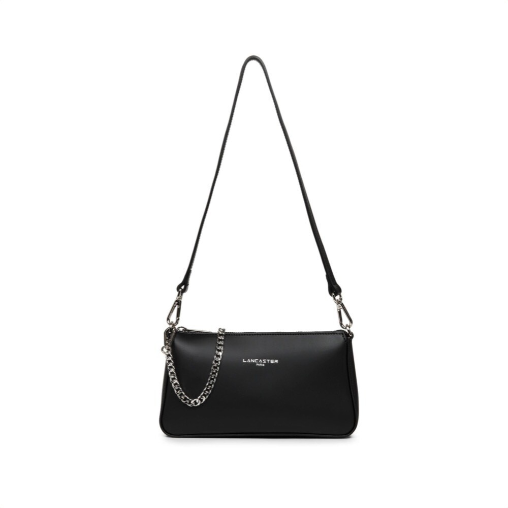 LANCASTER - Smooth Even Zip Clutch Zip - Noir