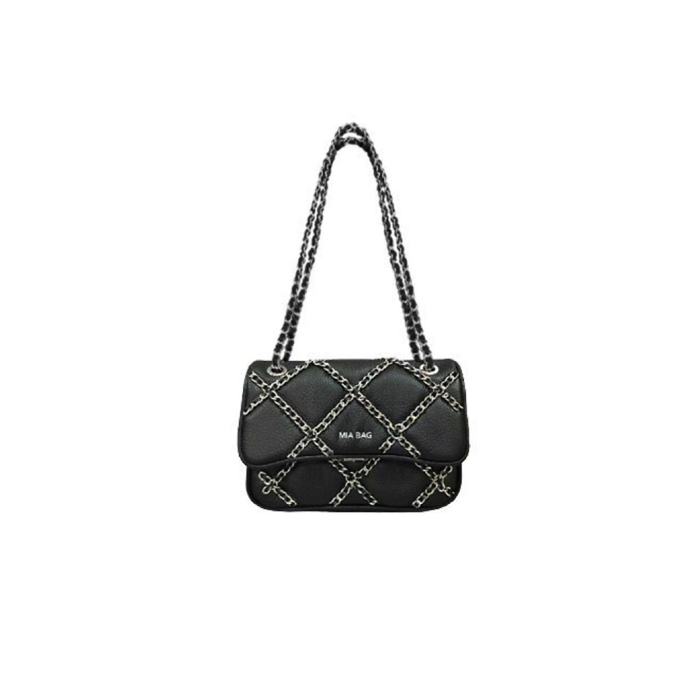 MIA BAG - Tracolla Mini Lux Chain - Nero