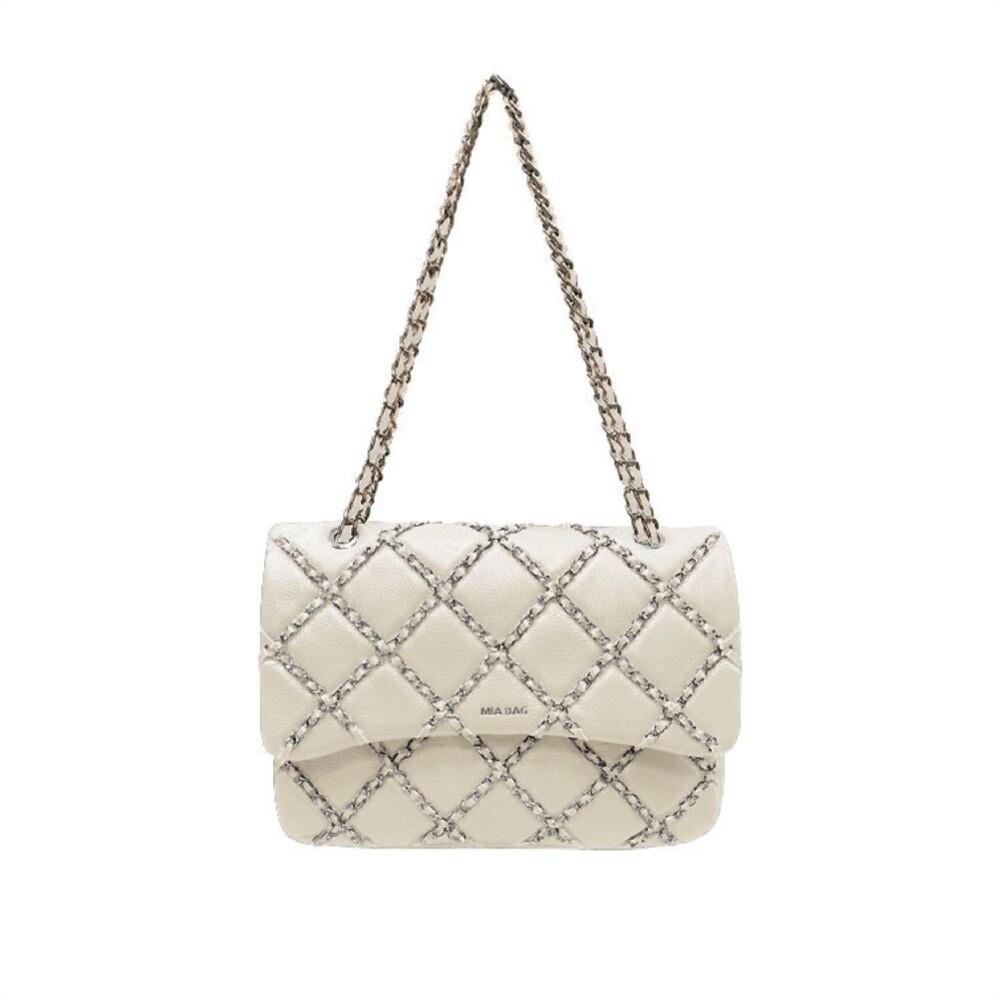 MIA BAG - Tracolla Lux Chain - Bianco