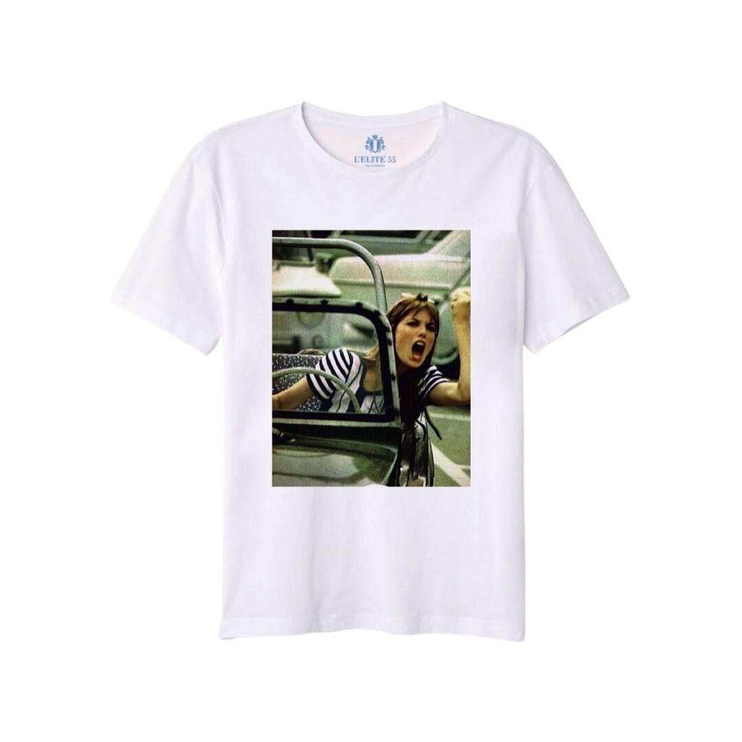 L'ELITÉ 55 - T-shirt stampa Jane - Bianco
