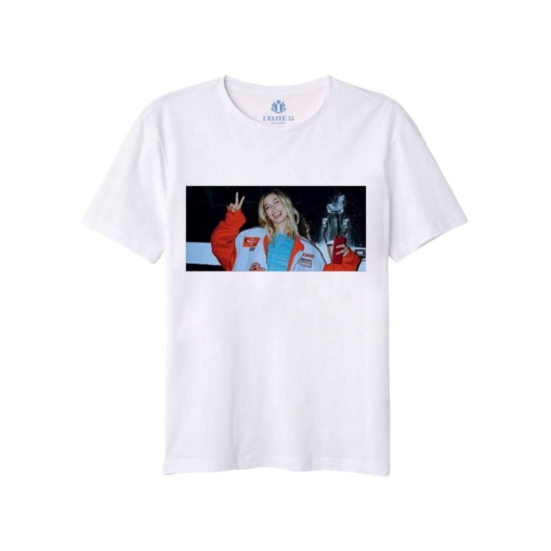 L'ELITÉ 55 - T-shirt stampa Hailey - Bianco