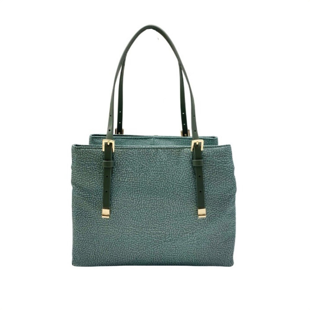 BORBONESE - Shopping Medium con tracolla - Pastel Green