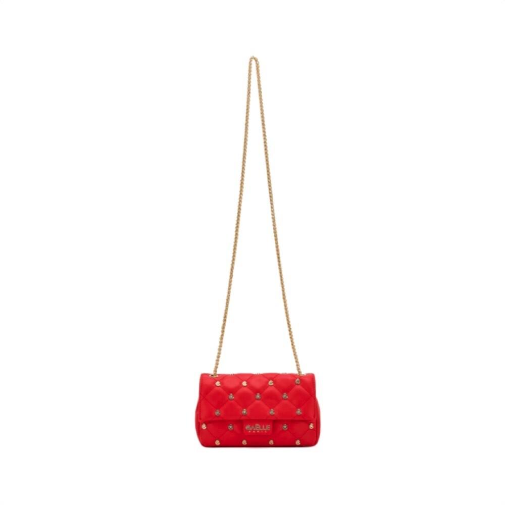 GAËLLE PARIS - Mini tracolla borchie - Rosso
