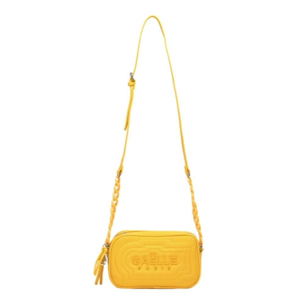 GAËLLE PARIS - Camera Bag doppia zip - Giallo