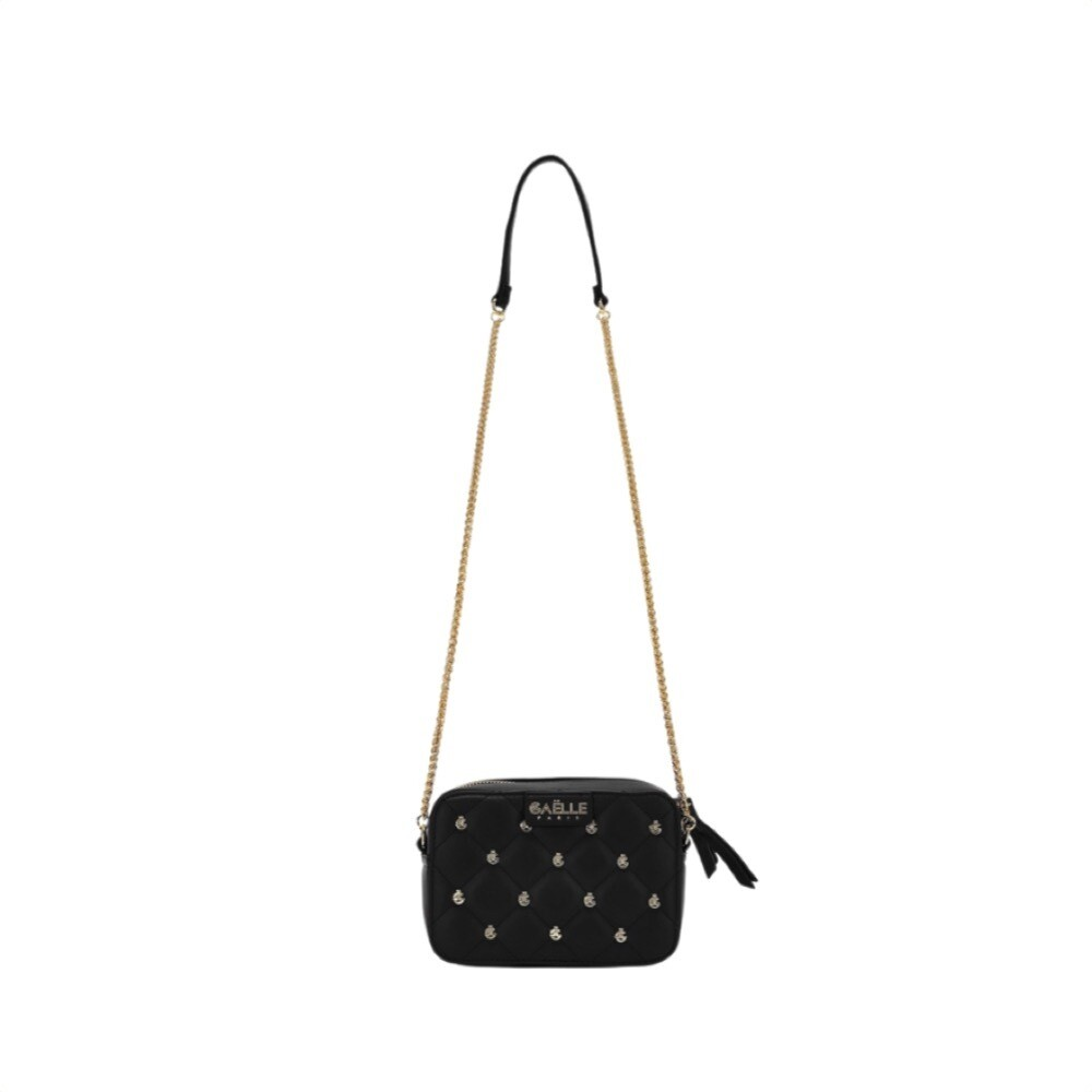 GAËLLE PARIS - Mini camera bag borchie - Nero