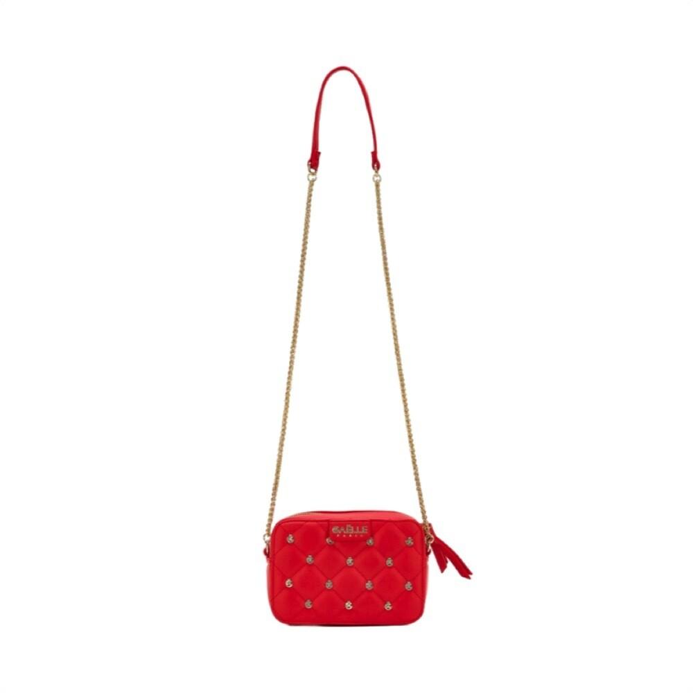 GAËLLE PARIS - Mini camera bag borchie - Rosso