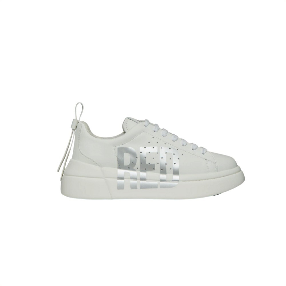 RED VALENTINO - Red Sneakers - Bianco/Silver