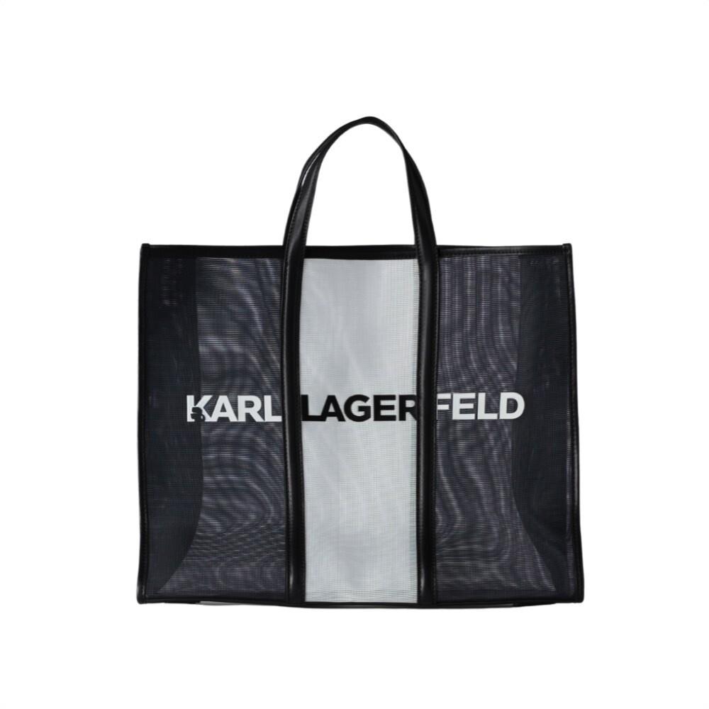KARL LAGERFELD - Tote grande Karl Essential - Black/White