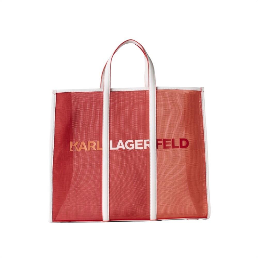 KARL LAGERFELD - Tote grande Karl Essential - Tangerine