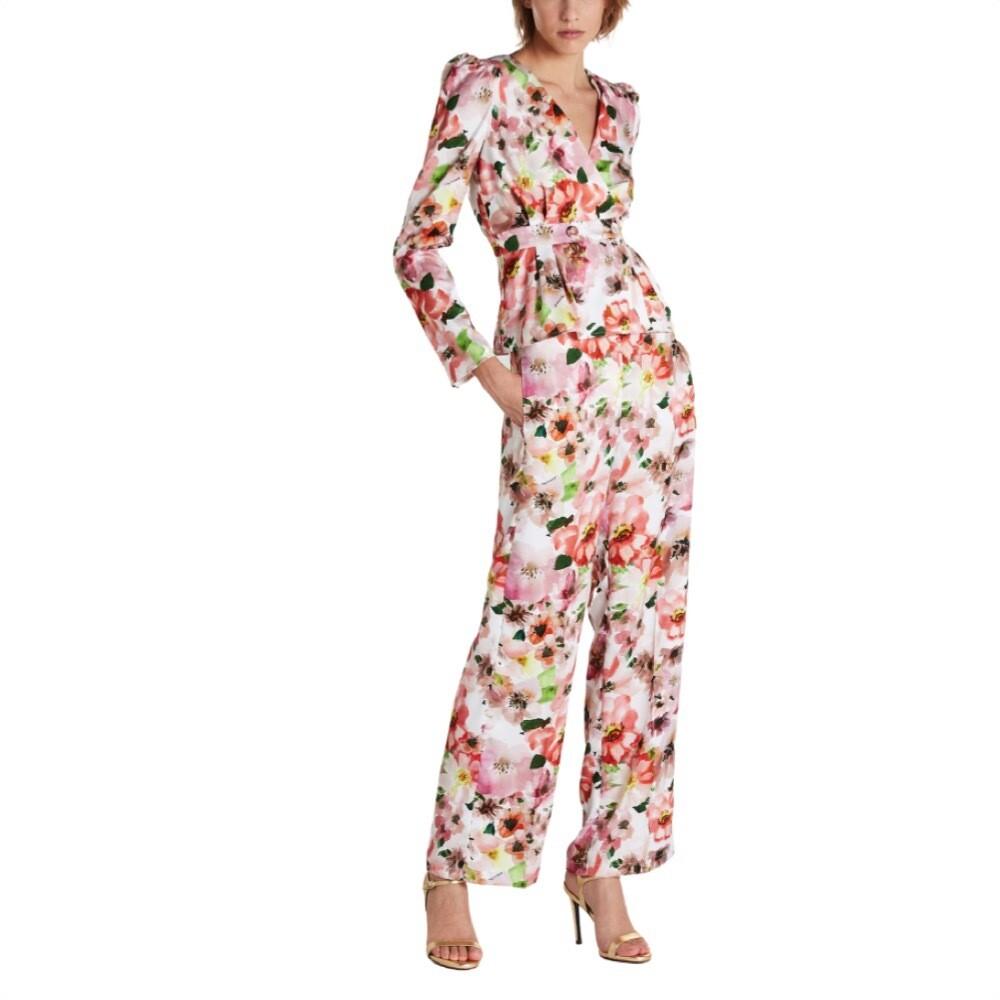 PATRIZIA PEPE - Pantalone palazzo stampa fiore - Warm Mystical Flower