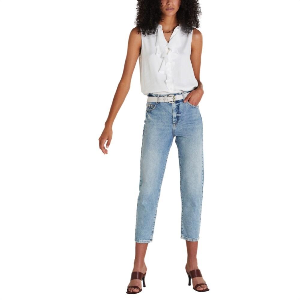 """PATRIZIA PEPE - Jeans a sigaretta """"ESSENTIAL"""" - Sun Bleach Denim"""