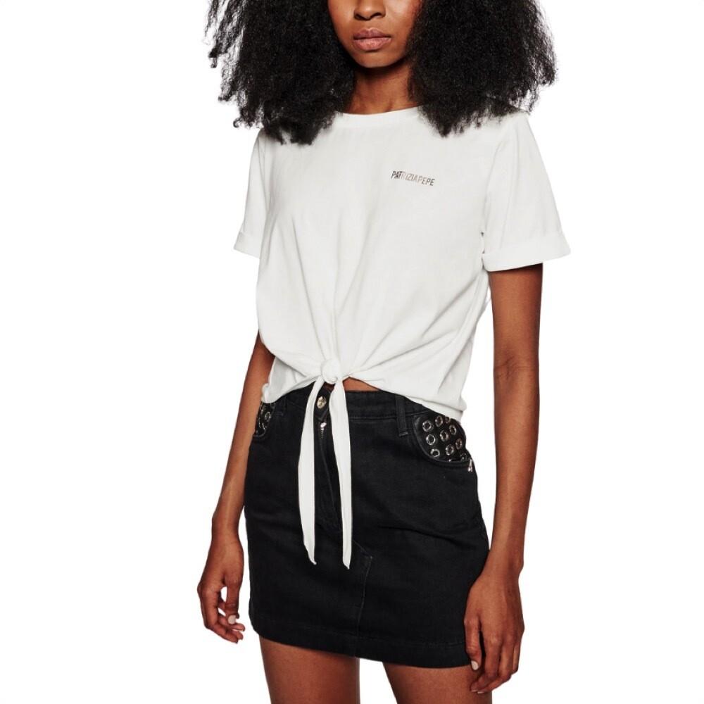 PATRIZIA PEPE - T-shirt con spallini - Bianco