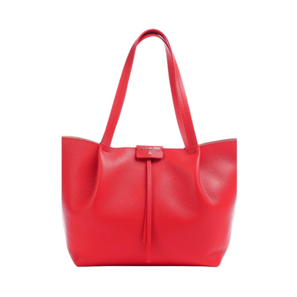 PATRIZIA PEPE - Borsa shopping in pelle - Lipstick Red
