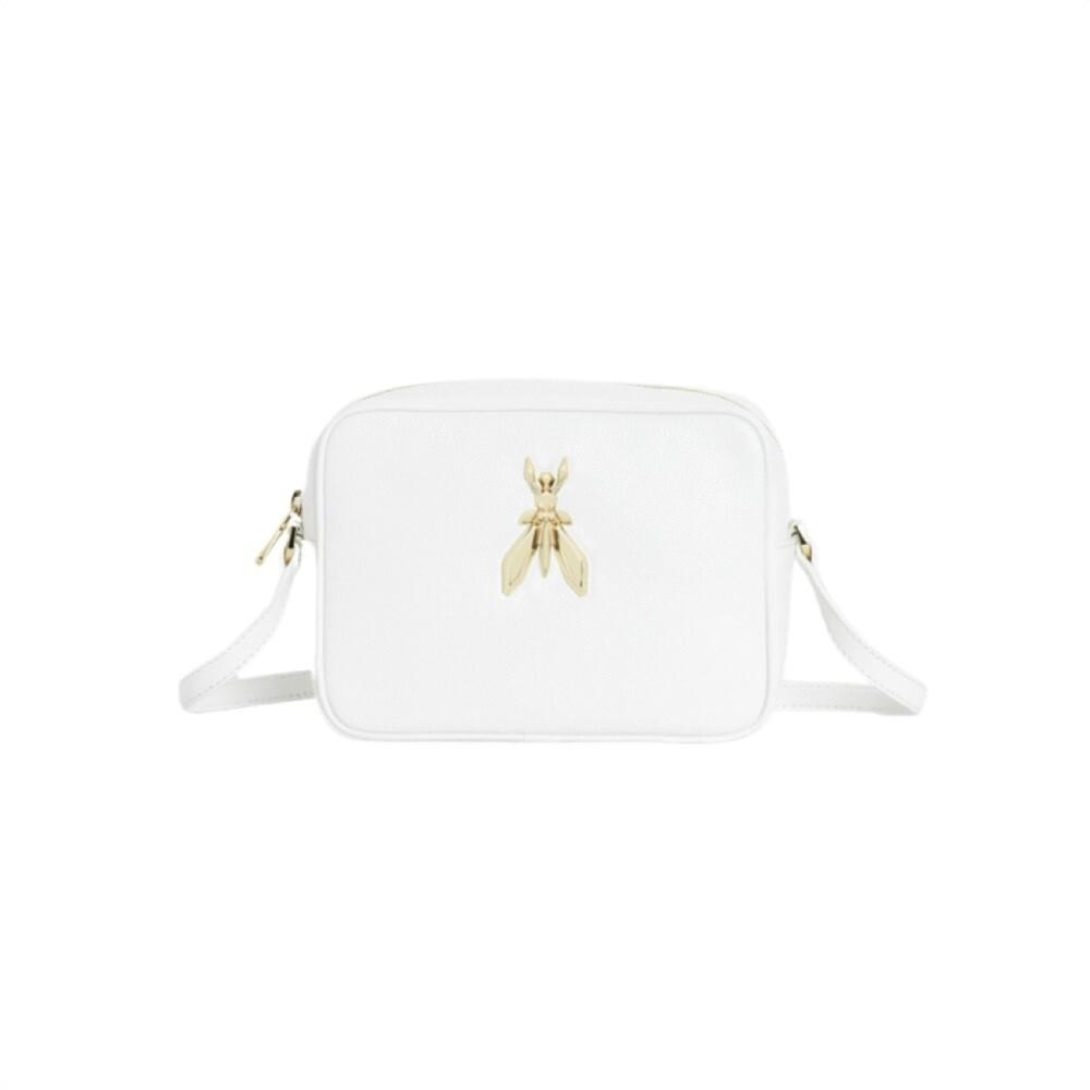 PATRIZIA PEPE - Camera Bag in pelle con maxi logo Fly - Bianco