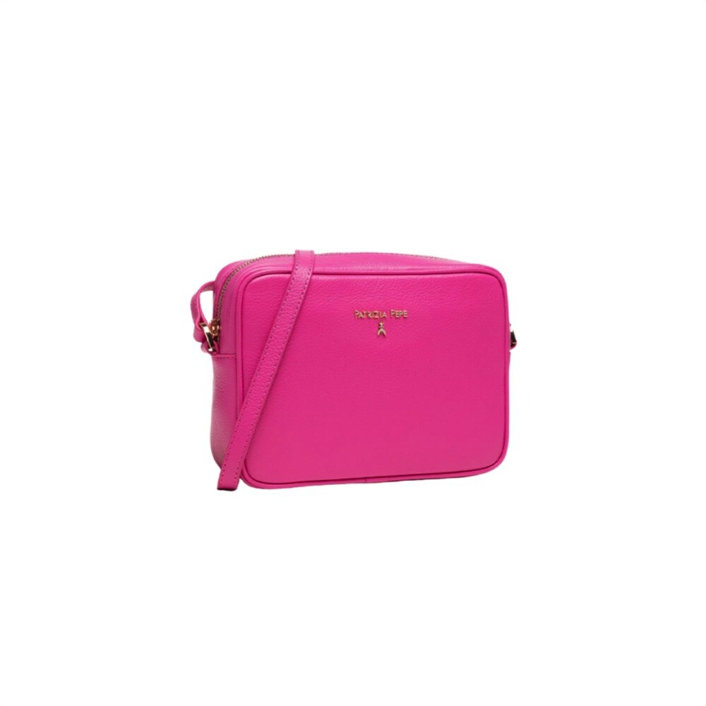 PATRIZIA PEPE - Camera Bag in pelle - Fuchsia