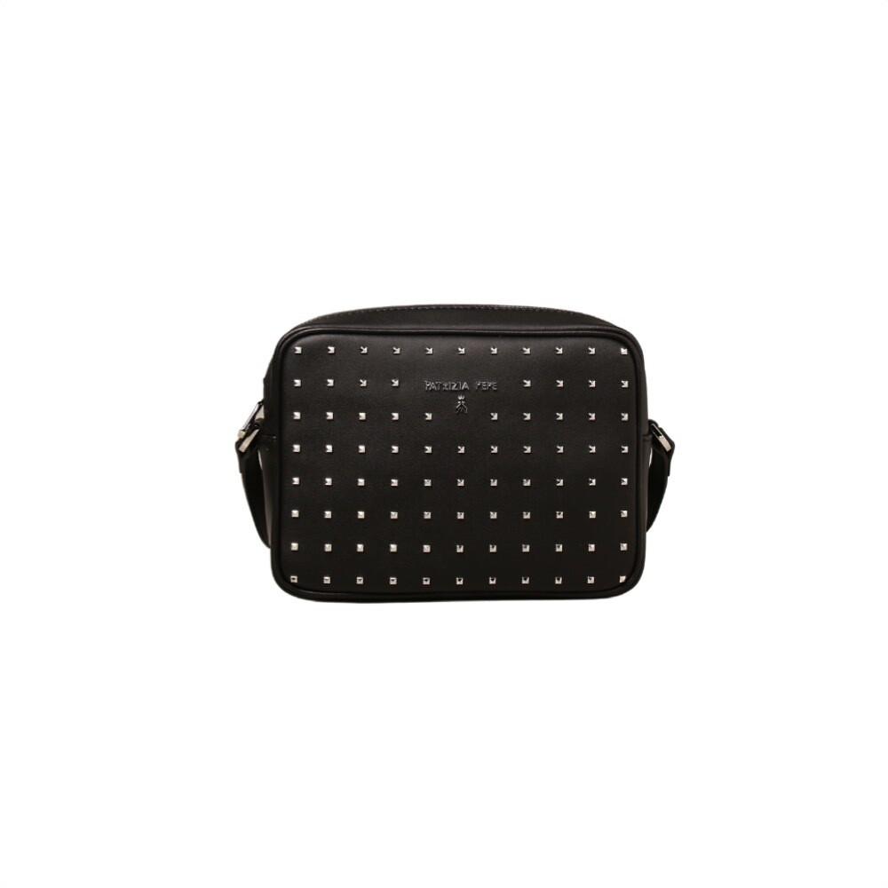PATRIZIA PEPE - Camera Bag in pelle con borchiette - Nero